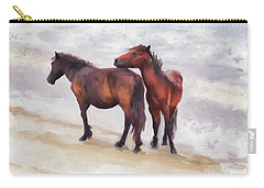 Carry-all Pouch featuring the photograph Beach Buddies by Lois Bryan