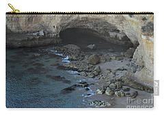 Beach Cave From The Cliffs In Malhada Do Baraco Carry-all Pouch by Angelo DeVal