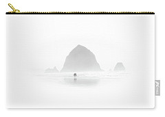 Carry-all Pouch featuring the photograph Beach Combers by Jeffrey Jensen