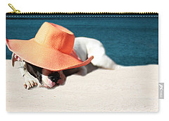 Carry-all Pouch featuring the photograph Beach Day For Bubba by Shelley Neff