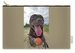 Carry-all Pouch featuring the photograph Beach Dog - More Play? By Kaye Menner by Kaye Menner