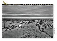 Beach Entry In Black And White Carry-all Pouch by Paul Ward