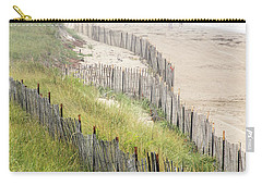 Beach Fences In A Storm Carry-all Pouch