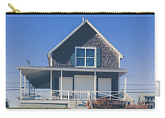 Carry-all Pouch featuring the photograph Beach Front Cottage by Edward Fielding