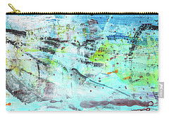 Beach Fun Art - Splash Blue Abstract Painting Carry-all Pouch