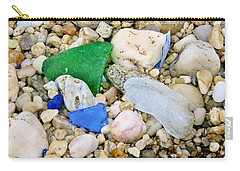 Carry-all Pouch featuring the photograph Beach Glass by Karen Silvestri