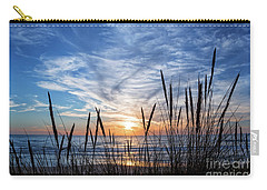 Carry-all Pouch featuring the photograph Beach Grass by Delphimages Photo Creations