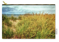 Carry-all Pouch featuring the digital art Beach Grass Path - Painterly by Michelle Calkins