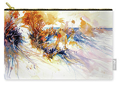 Beach Grass Shadows Carry-all Pouch by Rae Andrews