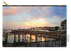 Beach Homes At Sunset Carry-all Pouch by Suzanne Handel