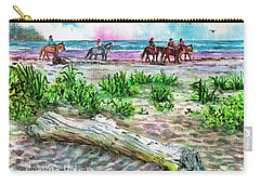 Beach Horseback Riding Carry-all Pouch