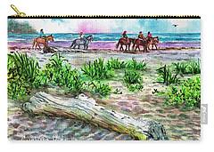 Beach Horseback Riding Carry-all Pouch