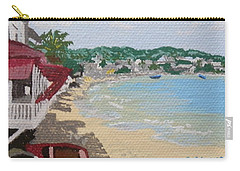 Beach In Grand Case Carry-all Pouch by Margaret Brooks
