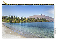 Beach In Queenstown, New Zealand Carry-all Pouch