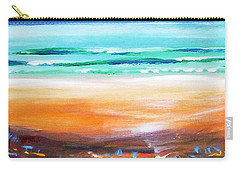 Carry-all Pouch featuring the painting Beach Joy by Winsome Gunning