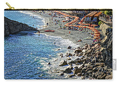 Beach Monterosso Italy Dsc02467 Carry-all Pouch