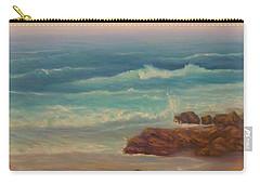 Beach Painting Beach Rocks  Carry-all Pouch