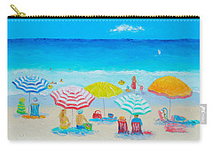 Beach Painting - Catching The Breeze Carry-all Pouch by Jan Matson