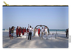 Beach Panoramic Wedding  Carry-all Pouch