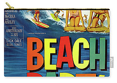 Beach Party Lobby Promo With Frankie Avalon Autograph  1963 Carry-all Pouch