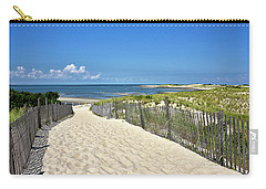 Carry-all Pouch featuring the photograph Beach Path At Cape Henlopen State Park - The Point - Delaware by Brendan Reals