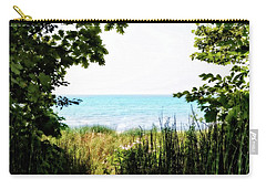 Carry-all Pouch featuring the photograph Beach Path With Snake Grass by Michelle Calkins
