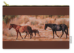 Beach Ponies - Wild Horses In The Dunes Carry-all Pouch