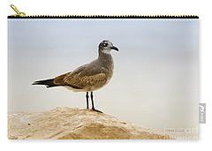 Carry-all Pouch featuring the photograph Beach Pose by Deborah Benoit