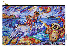 Carry-all Pouch featuring the painting Beach Run by Dianne  Connolly
