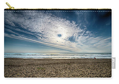 Beach Sand With Clouds - Spiagggia Di Sabbia Con Nuvole Carry-all Pouch
