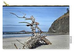 Carry-all Pouch featuring the photograph Beach Sculpture by Peggy Hughes