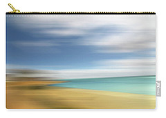 Beach Seascape Abstract Carry-all Pouch by Gill Billington