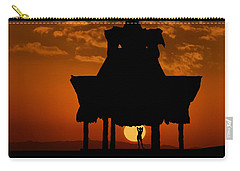 Beach Shelter At Sunset Carry-all Pouch
