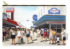 Beach/shore I Boardwalk Ocean City Md - Original Fine Art Painting Carry-all Pouch