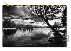Carry-all Pouch featuring the photograph Beach Silhouette by David Patterson