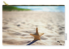 Beach Starfish Wood Texture Carry-all Pouch by Dan Sproul