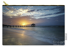 Beach Sunrise Carry-all Pouch by Dennis Hedberg