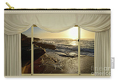 Beach Sunrise From Your Home Or Office By Kaye Menner Carry-all Pouch by Kaye Menner