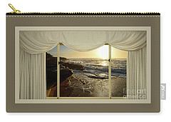 Beach Sunrise From Your Home Or Office By Kaye Menner Carry-all Pouch