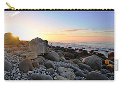 Beach Sunrise Over Rocks Carry-all Pouch