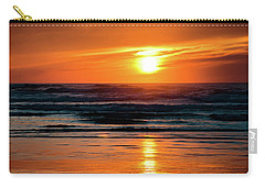 Carry-all Pouch featuring the photograph Beach Sunset by Bryan Carter