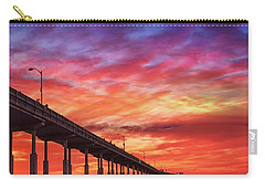 Beach Sunset Ocean Wall Art San Diego Artwork Carry-all Pouch