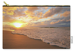 Beach Sunset With Golden Clouds Carry-all Pouch