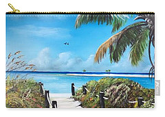 Beach Time On The Key Carry-all Pouch