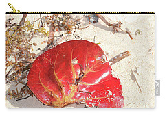 Carry-all Pouch featuring the photograph Beach Treasures 1 by Melissa Lane