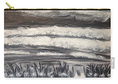 Carry-all Pouch featuring the painting Beach Walk by Diane Pape