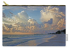 Carry-all Pouch featuring the photograph Beach Walk by HH Photography of Florida