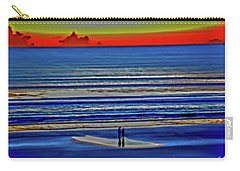 Beach Walking At Sunrise Carry-all Pouch
