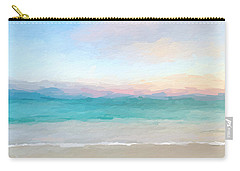 Beach Watercolor Sunrise Carry-all Pouch
