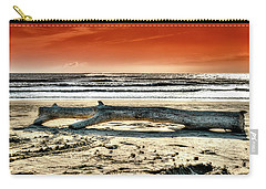 Beach With Wood Trunk - Spiaggia Con Tronco IIi Carry-all Pouch